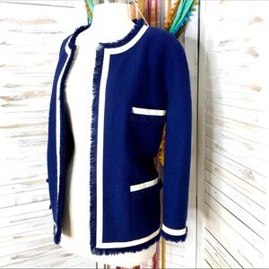 CHANEL | Navy Tweed Vintage Blazer Suit Jacket US 14 / UK 50